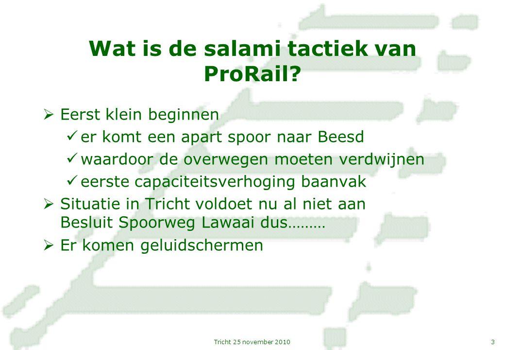 Wat is de salami tactiek van ProRail