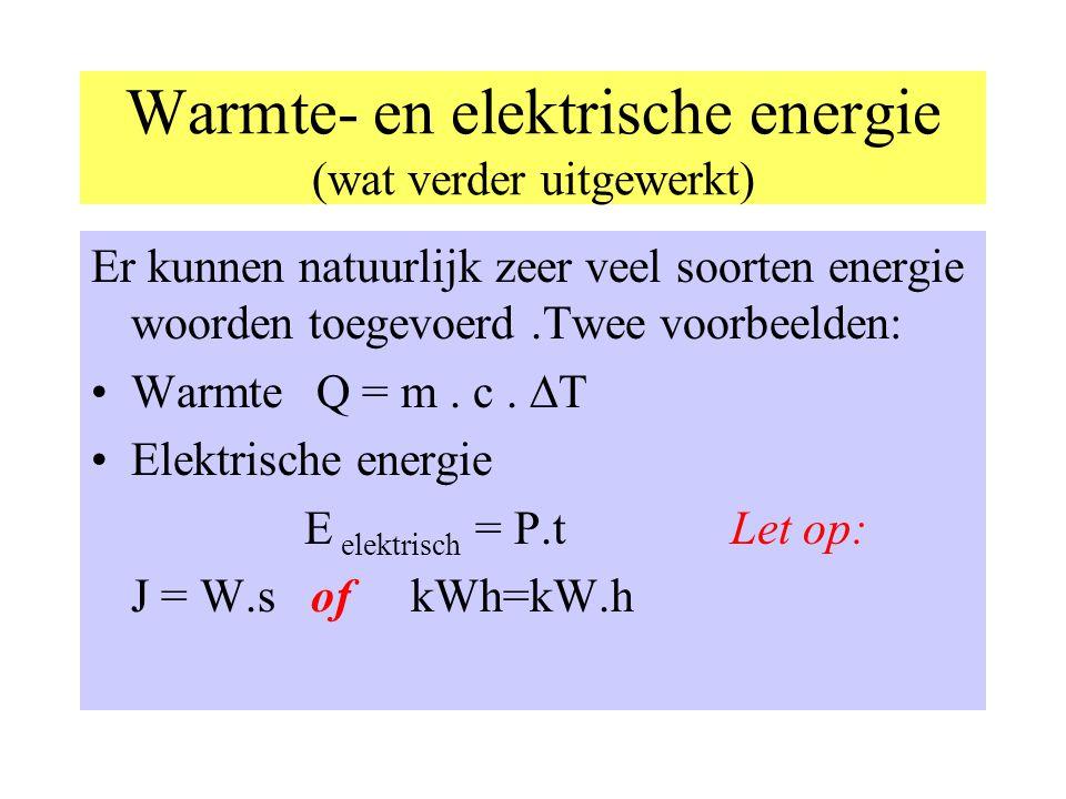 Warmte- en elektrische energie (wat verder uitgewerkt)