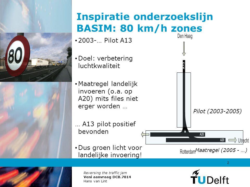 Inspiratie onderzoekslijn BASIM: 80 km/h zones