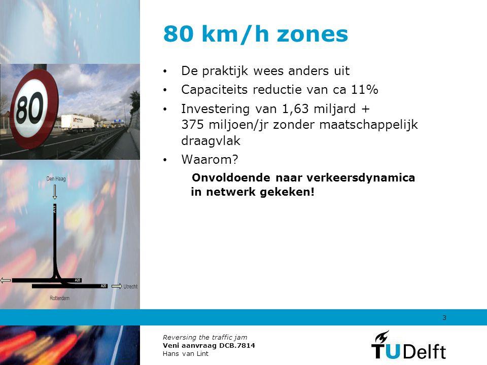 80 km/h zones De praktijk wees anders uit