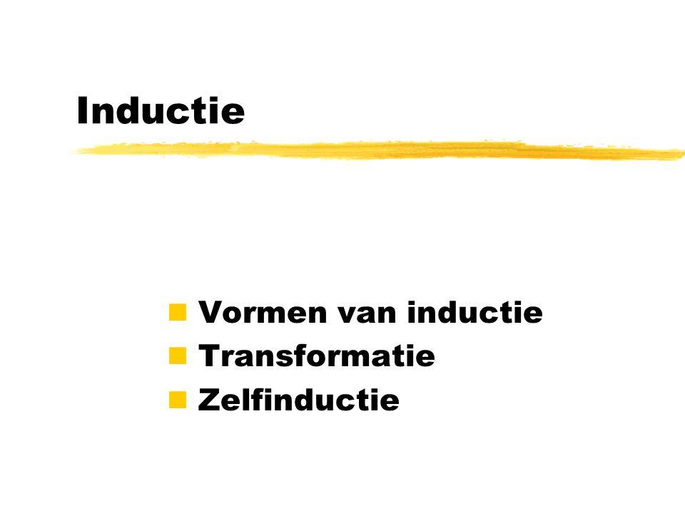 Vormen van inductie Transformatie Zelfinductie