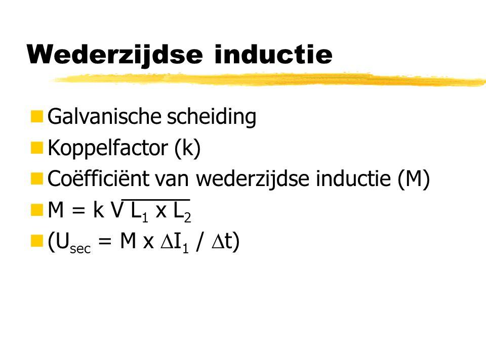 Wederzijdse inductie Galvanische scheiding Koppelfactor (k)