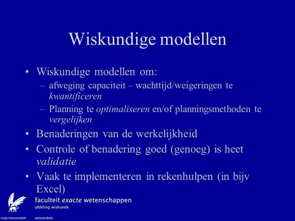 Wiskundige modellen Wiskundige modellen om: