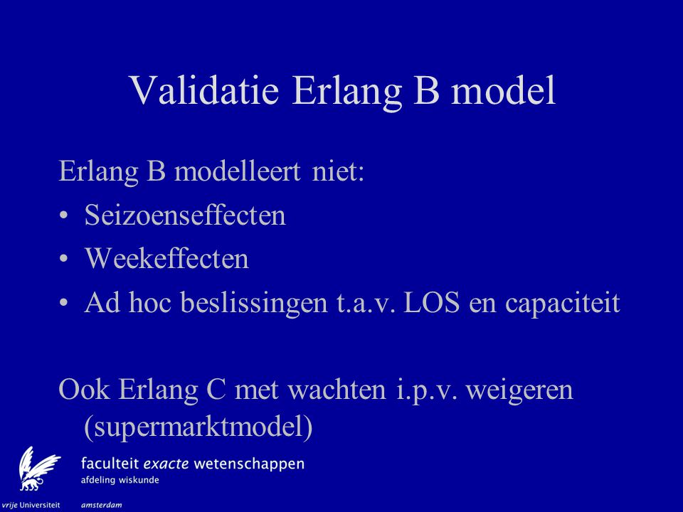 Validatie Erlang B model