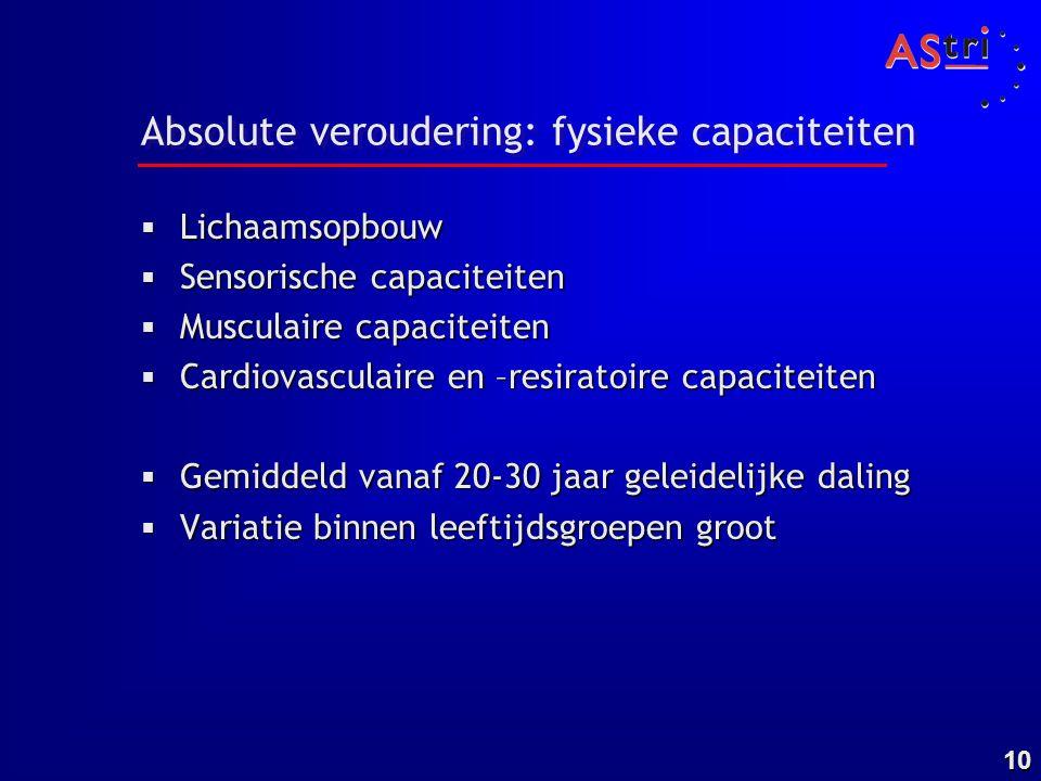 Absolute veroudering: fysieke capaciteiten