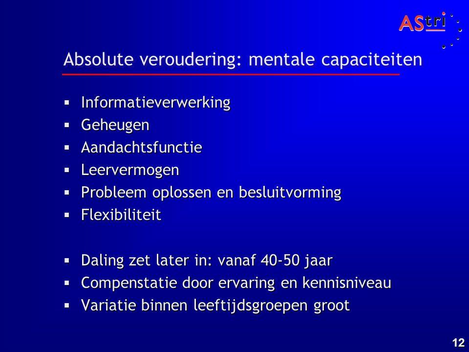 Absolute veroudering: mentale capaciteiten