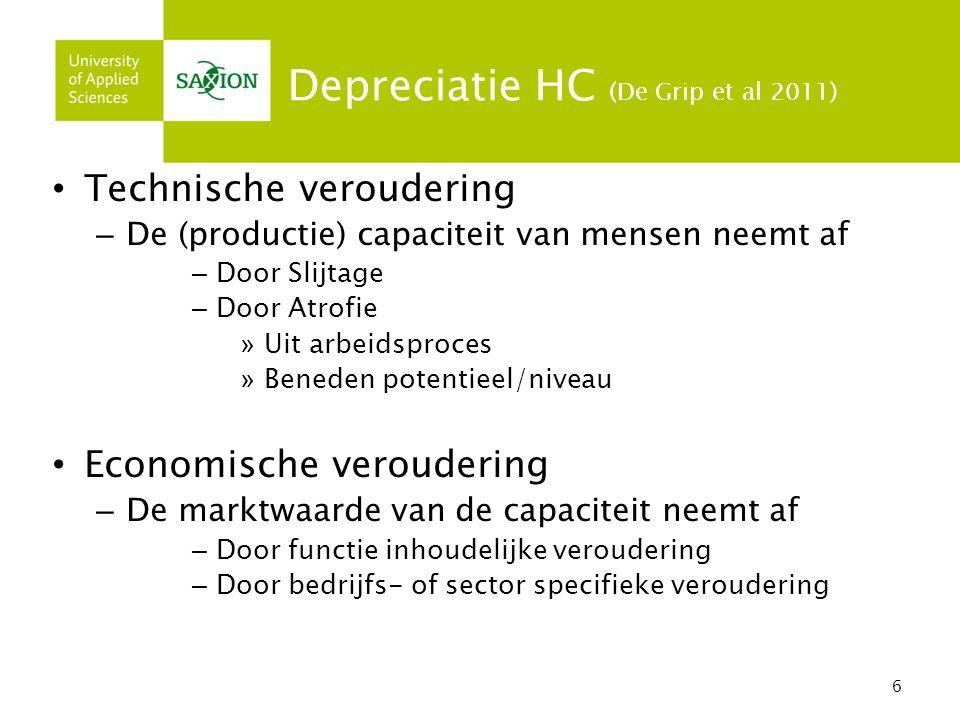 Depreciatie HC (De Grip et al 2011)