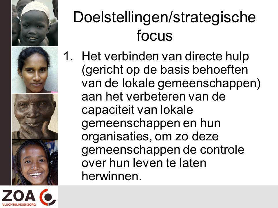 Doelstellingen/strategische focus