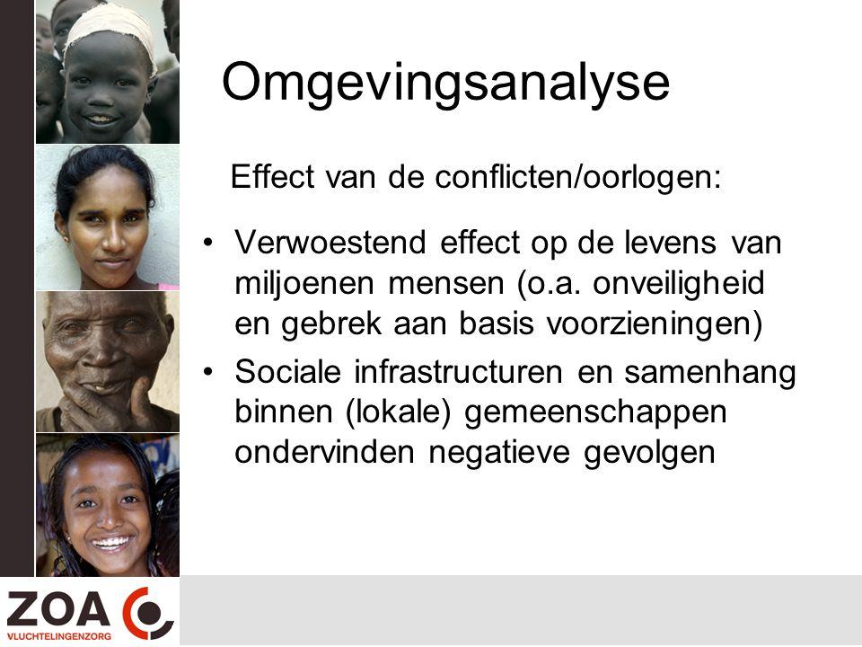 Omgevingsanalyse Effect van de conflicten/oorlogen: