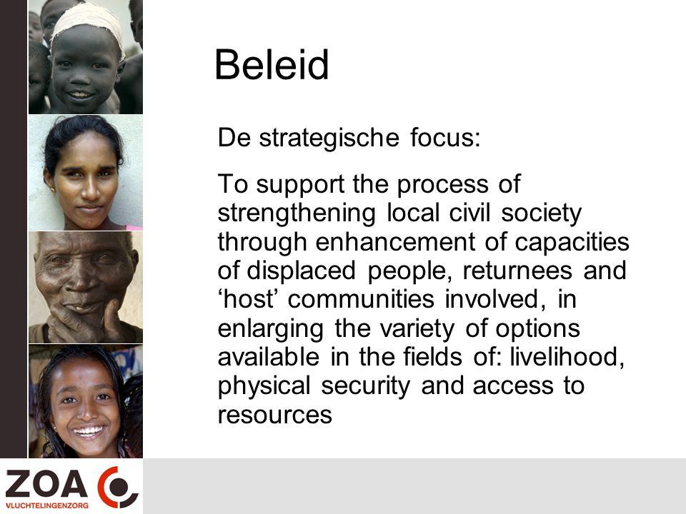 Beleid De strategische focus: