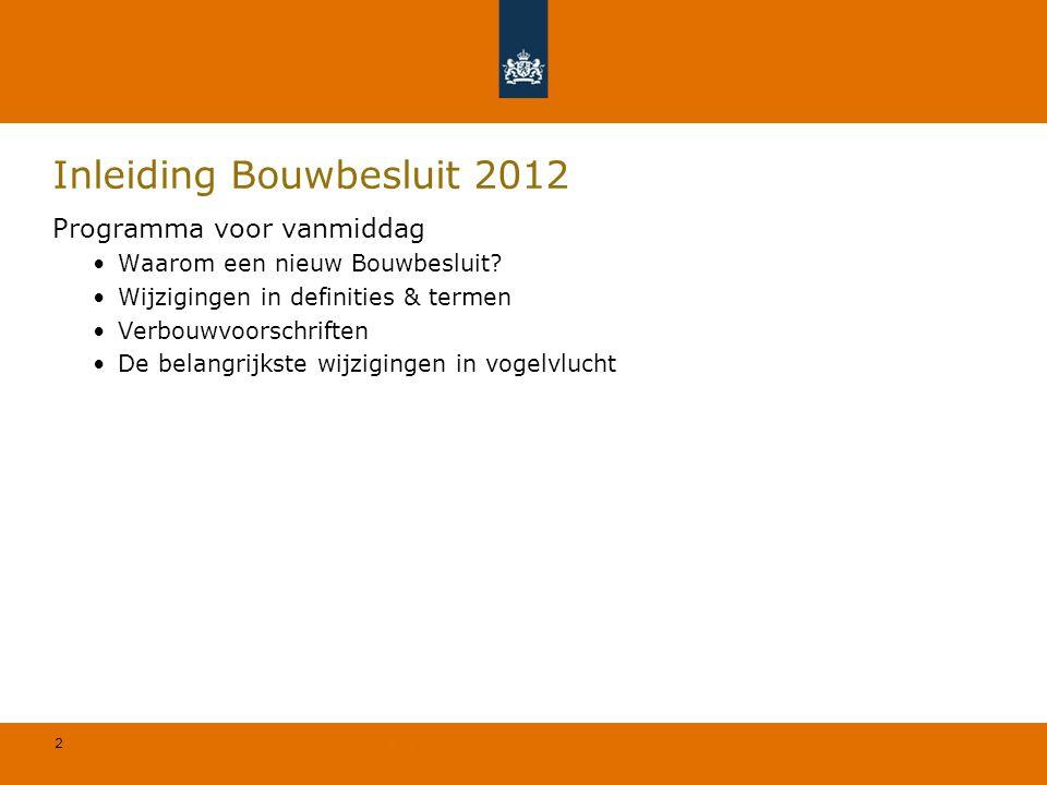Inleiding Bouwbesluit 2012