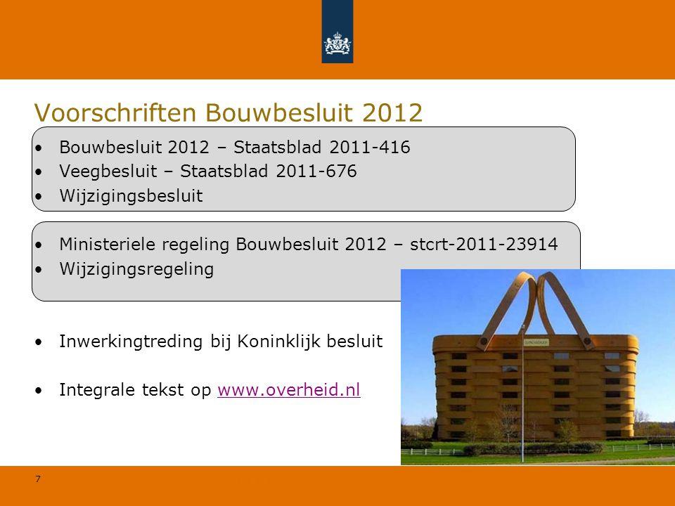 Voorschriften Bouwbesluit 2012