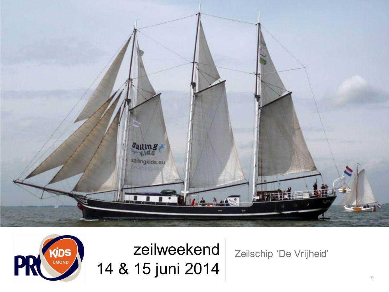 zeilweekend 14 & 15 juni 2014 Zeilschip 'De Vrijheid' 1