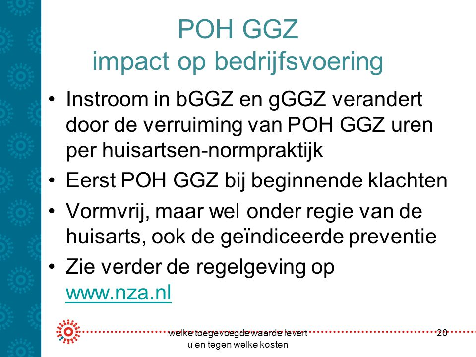 POH GGZ impact op bedrijfsvoering