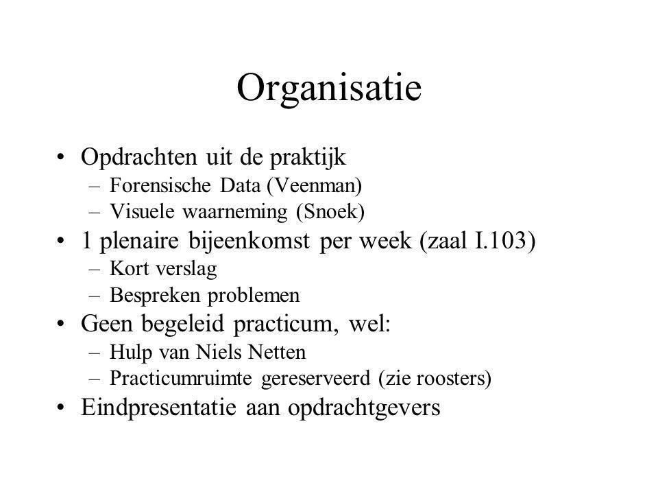 Organisatie Opdrachten uit de praktijk