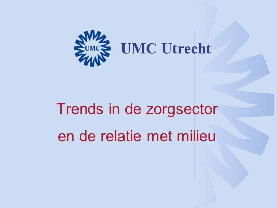 Trends in de zorgsector