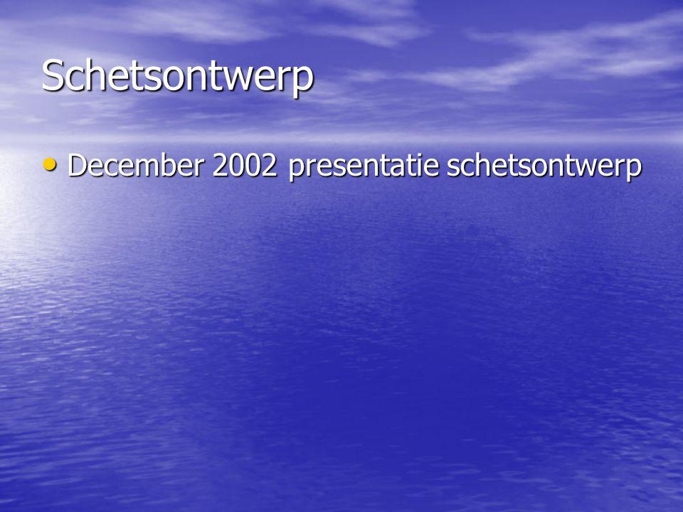 Schetsontwerp December 2002 presentatie schetsontwerp