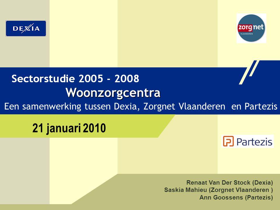 21 januari 2010 Woonzorgcentra