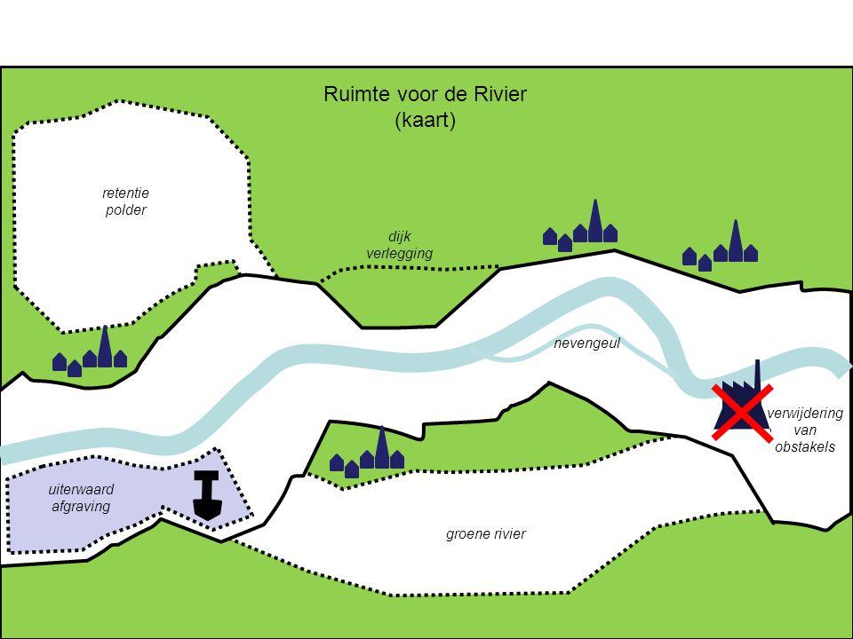 Ruimte voor de Rivier (kaart) retentie polder dijk verlegging