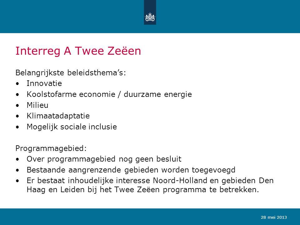 Interreg A Twee Zeëen Belangrijkste beleidsthema's: Innovatie