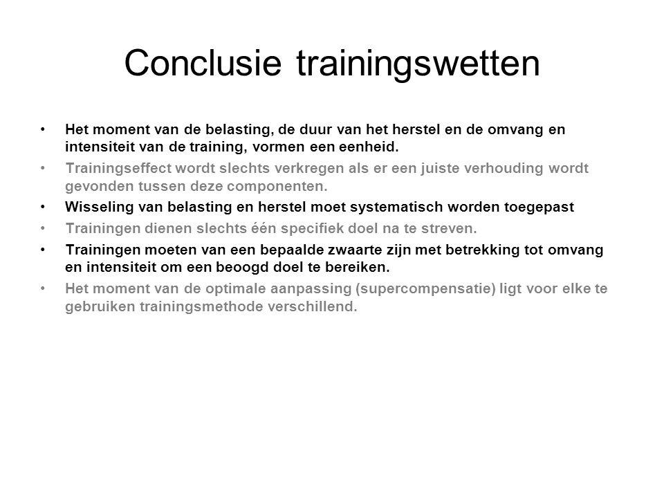 Conclusie trainingswetten