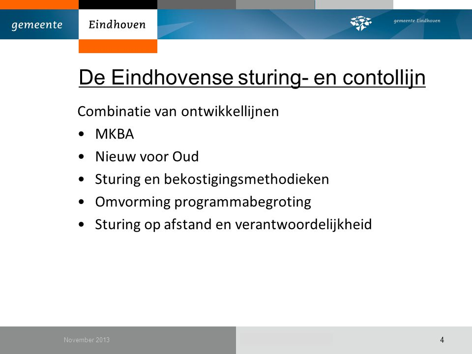 De Eindhovense sturing- en contollijn