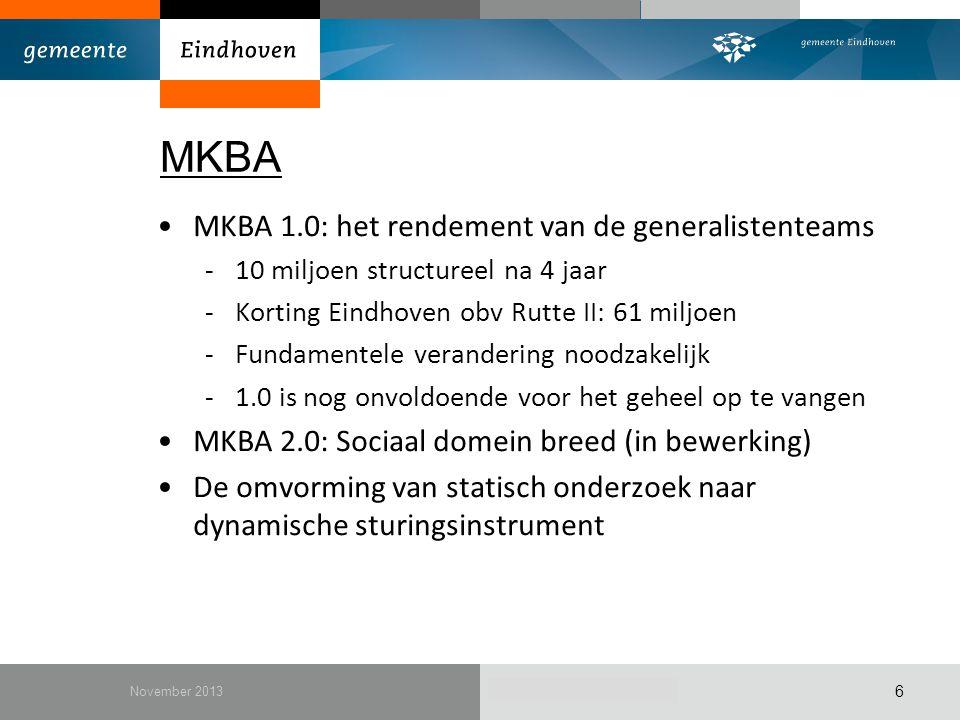 MKBA MKBA 1.0: het rendement van de generalistenteams