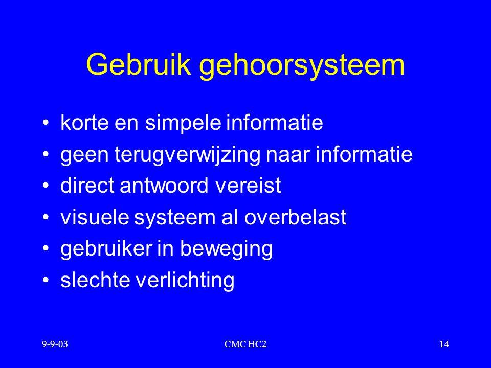 Gebruik gehoorsysteem