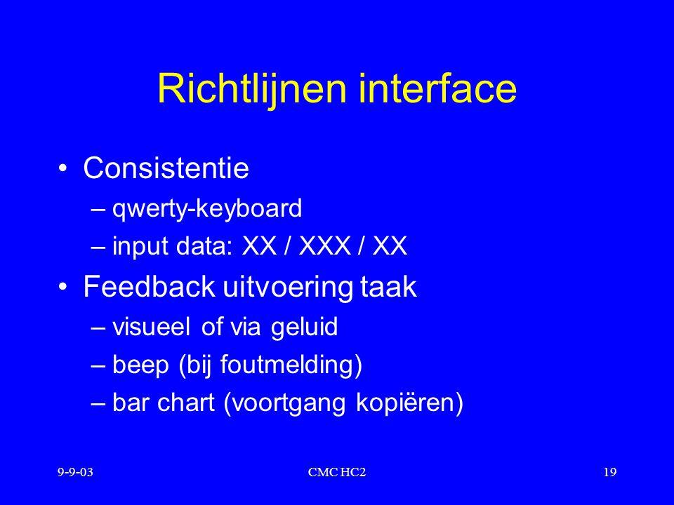 Richtlijnen interface