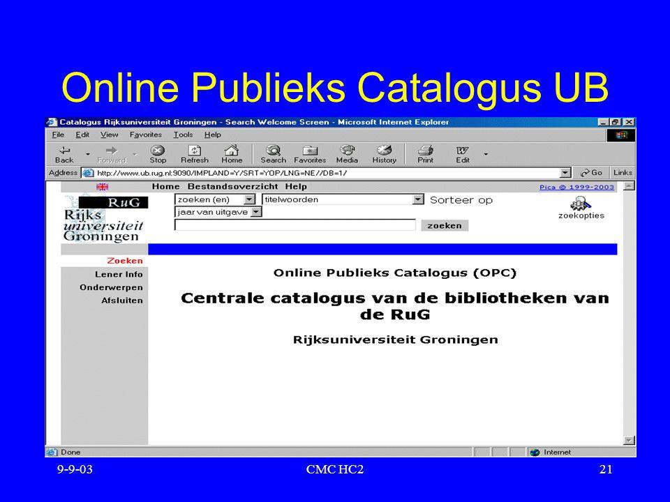 Online Publieks Catalogus UB