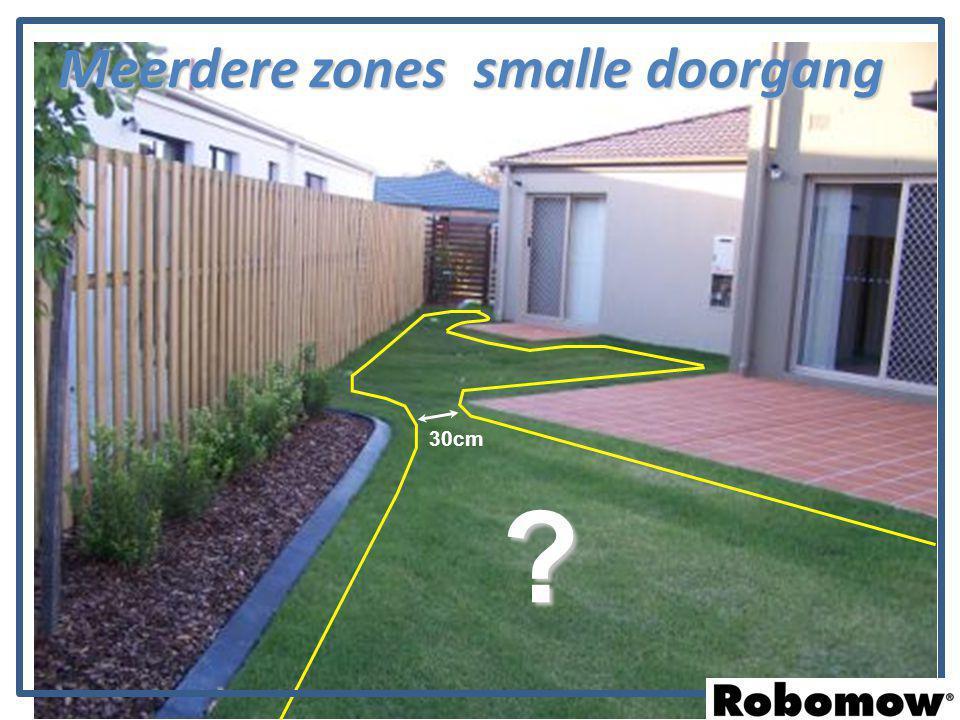 Meerdere zones smalle doorgang