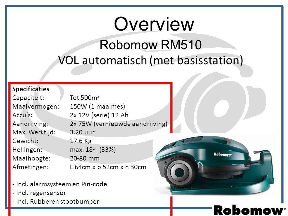 Robomow RM510 VOL automatisch (met basisstation)