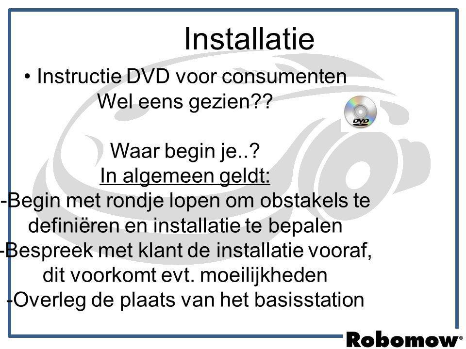 Installatie Instructie DVD voor consumenten Wel eens gezien