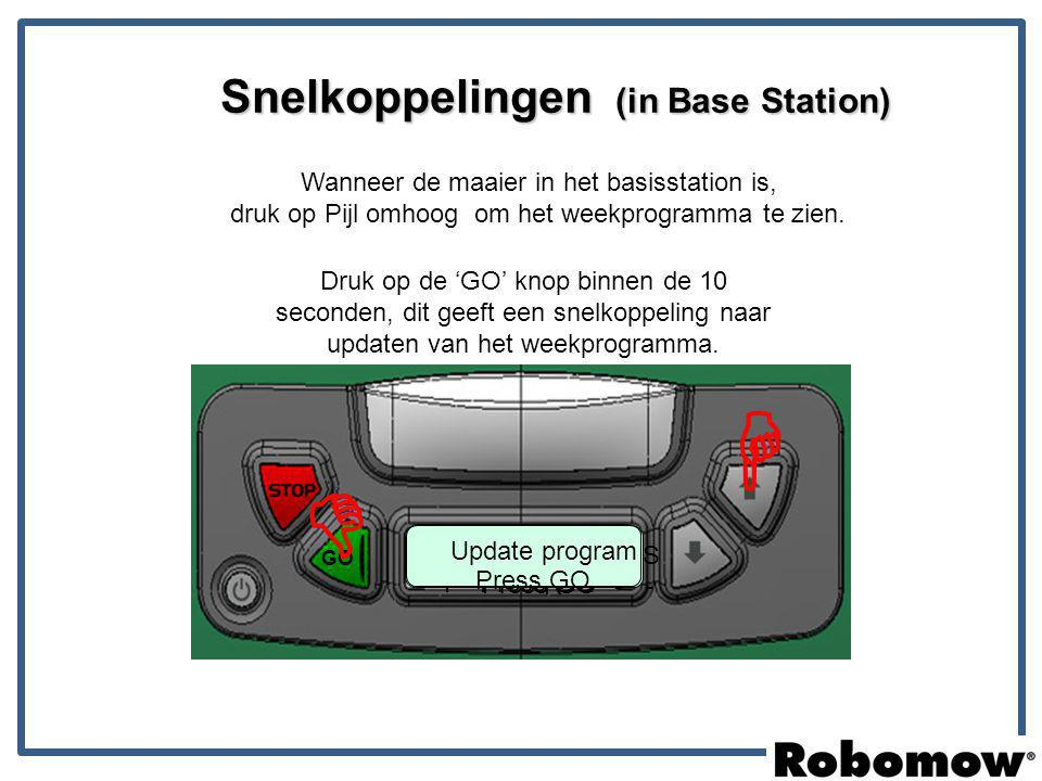   Snelkoppelingen (in Base Station)
