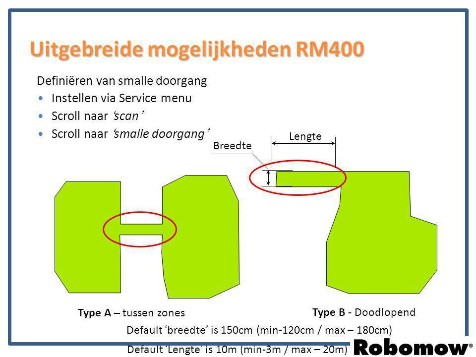 Uitgebreide mogelijkheden RM400