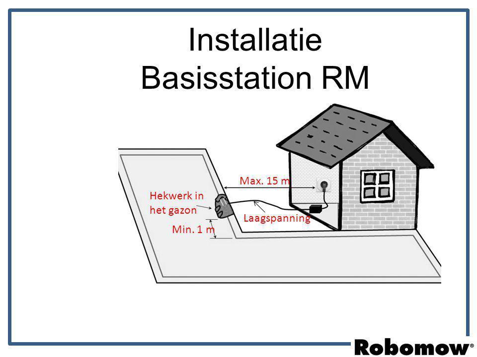Installatie Basisstation RM Max. 15 m Hekwerk in het gazon