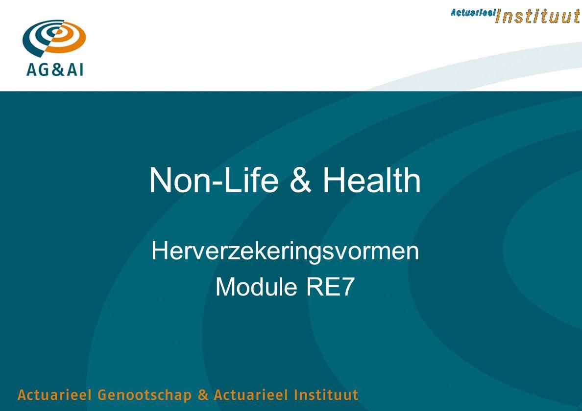 Herverzekeringsvormen Module RE7