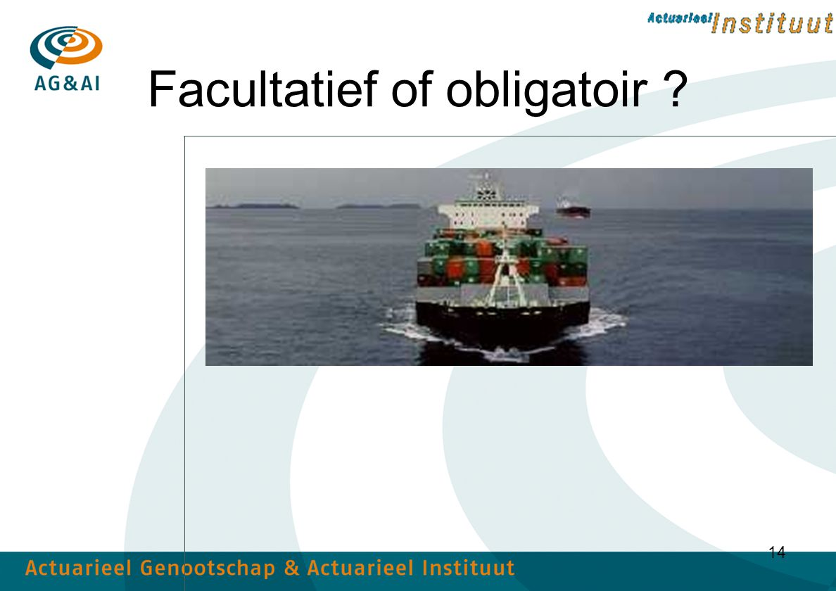 Facultatief of obligatoir