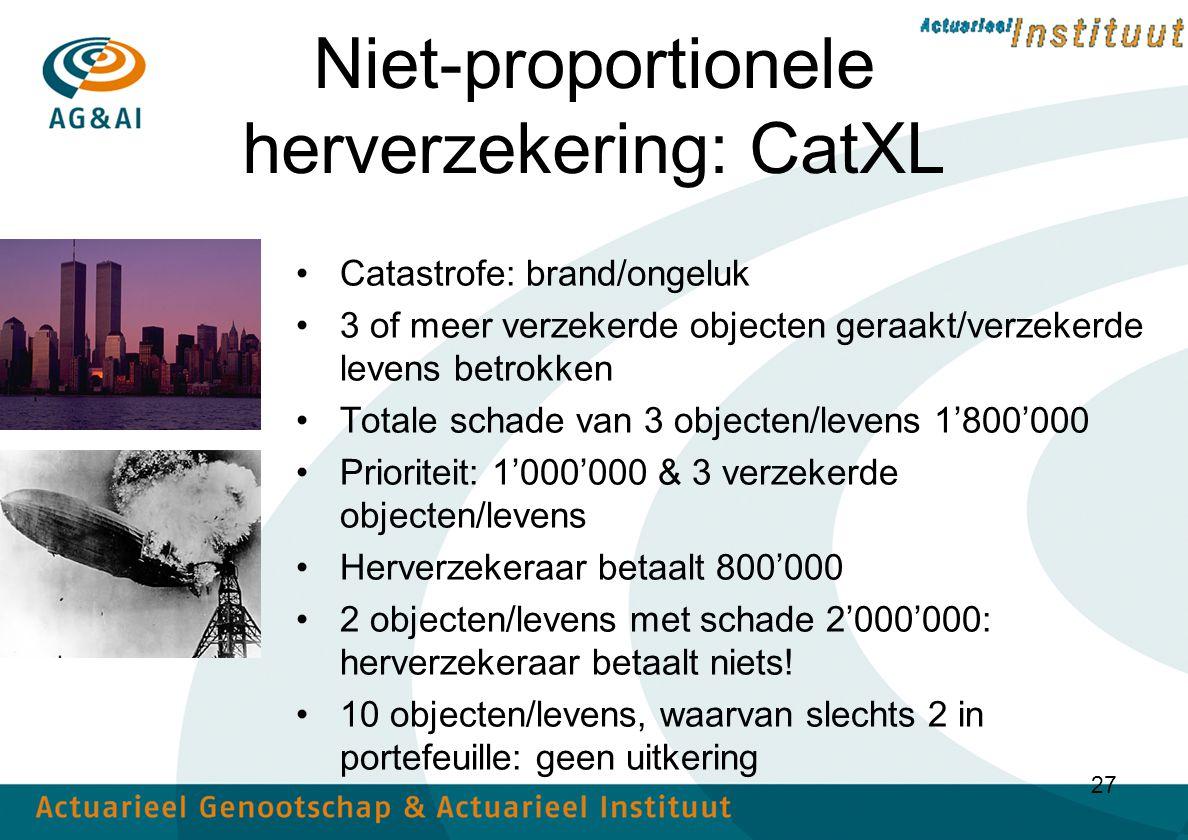 Niet-proportionele herverzekering: CatXL