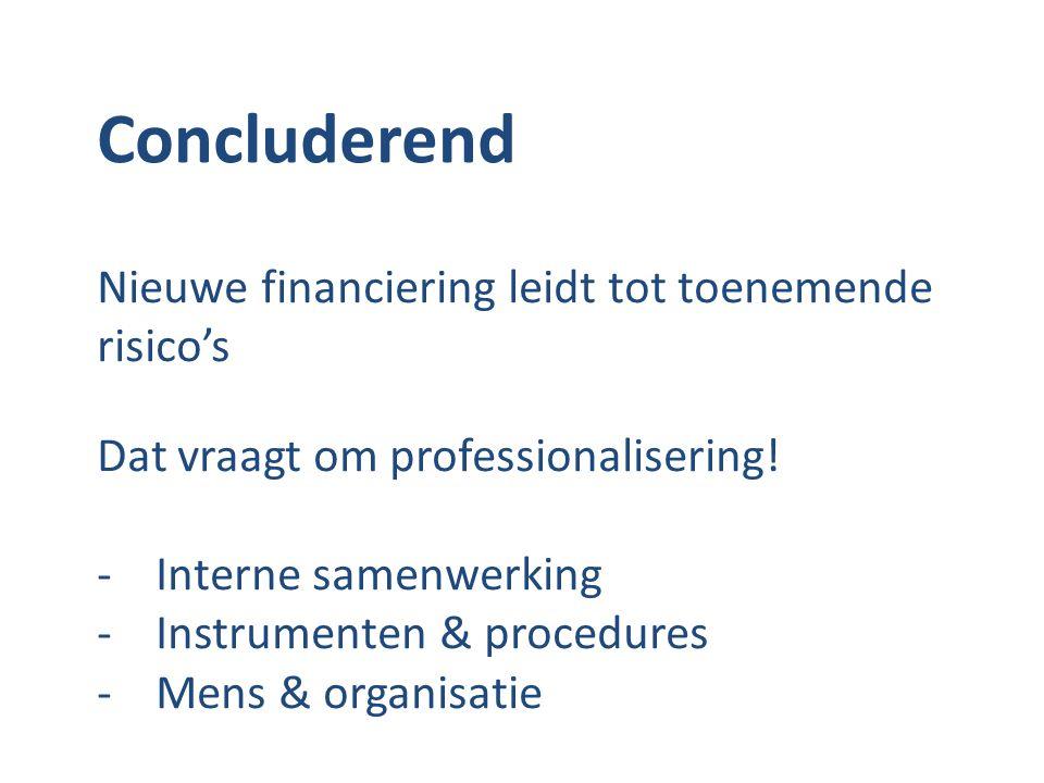 Concluderend Nieuwe financiering leidt tot toenemende risico's
