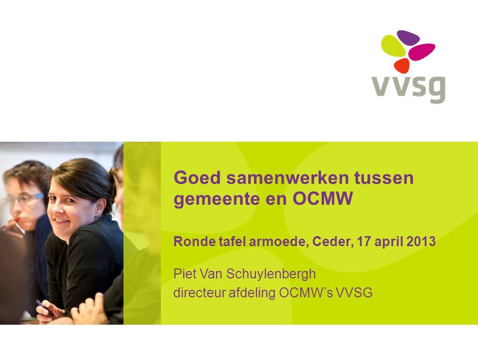 Piet Van Schuylenbergh directeur afdeling OCMW's VVSG