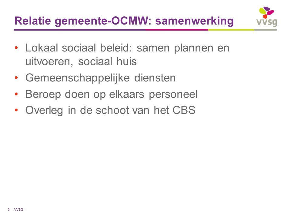 Relatie gemeente-OCMW: samenwerking