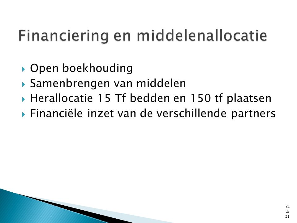 Financiering en middelenallocatie