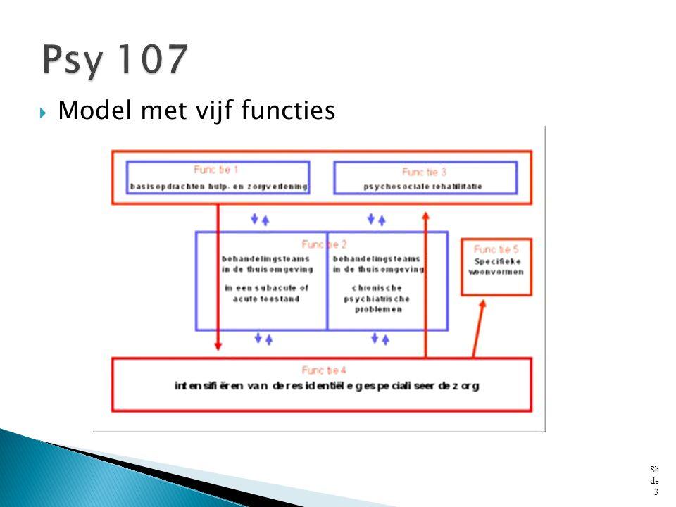 Psy 107 Model met vijf functies