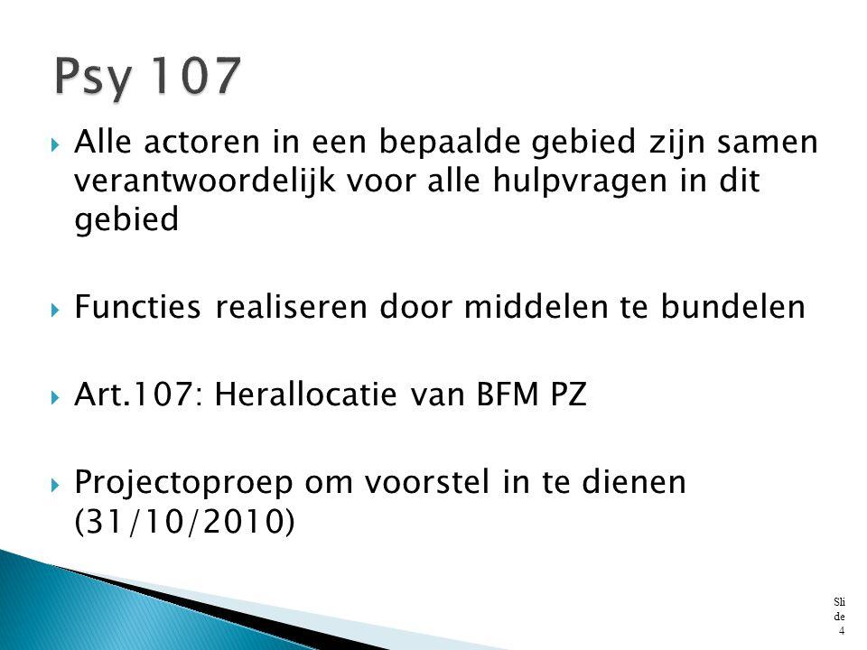 Psy 107 Alle actoren in een bepaalde gebied zijn samen verantwoordelijk voor alle hulpvragen in dit gebied.