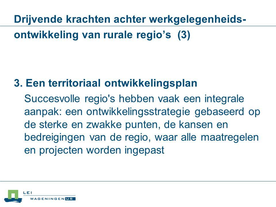 3. Een territoriaal ontwikkelingsplan
