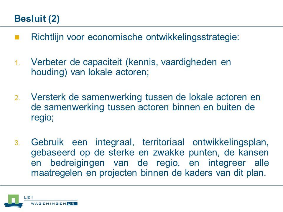 Richtlijn voor economische ontwikkelingsstrategie: