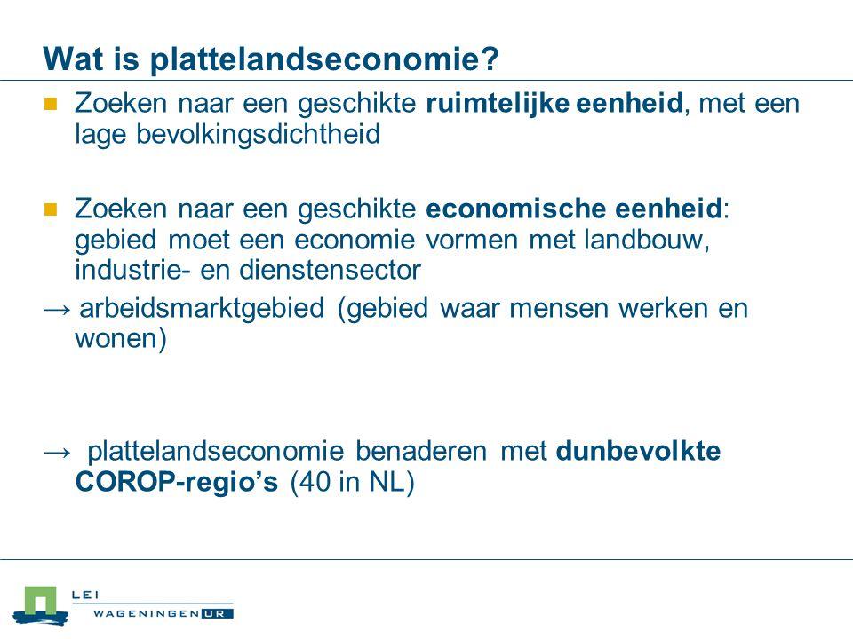 Wat is plattelandseconomie