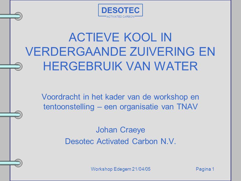 ACTIEVE KOOL IN VERDERGAANDE ZUIVERING EN HERGEBRUIK VAN WATER