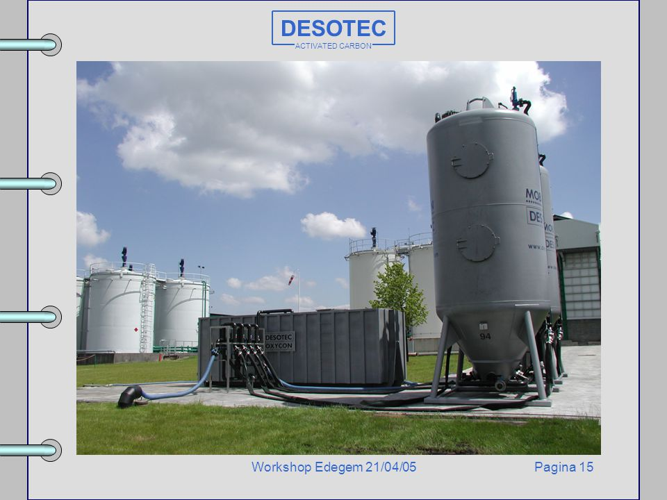 DESOTEC ACTIVATED CARBON Workshop Edegem 21/04/05